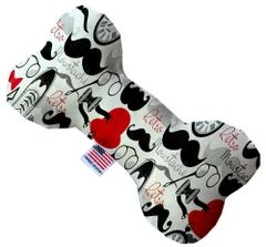 PET TOYS: Soft Durable Fabric or Canvas Bone Shape Pet Toy in 3 Sizes Made in USA by MiragePetProducts - DAPPER DUDE