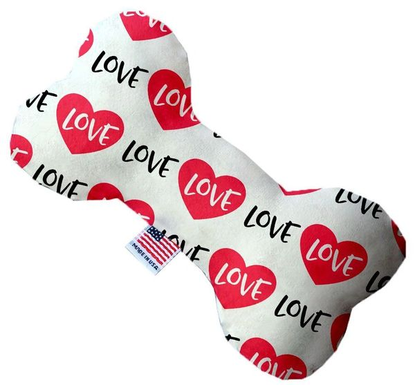 PET TOYS: Durable Bone Shape Pet Toy CLASSIC LOVE in 3 Sizes & Styles Made in USA by MiragePetProducts