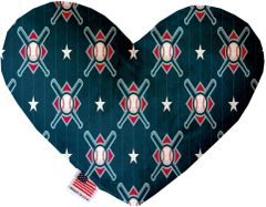 PET TOYS: Soft Velvety Fabric or Canvas Heart Shape Pet Toy BATS & BALLS in Two Sizes Made in USA by MiragePetProducts