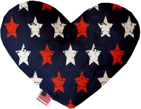 PET TOYS: Soft Velvety Fabric, Canvas. or Stuffing Free Heart Shape Pet Toy GRAFFITI STARS in Two Sizes