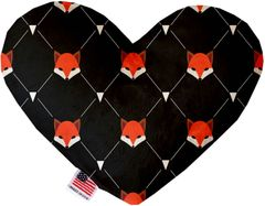 PET TOYS: Soft Velvety Fabric or Canvas Heart Shape Pet Toy FOX PLAID in Two Sizes Made in USA by MiragePetProducts