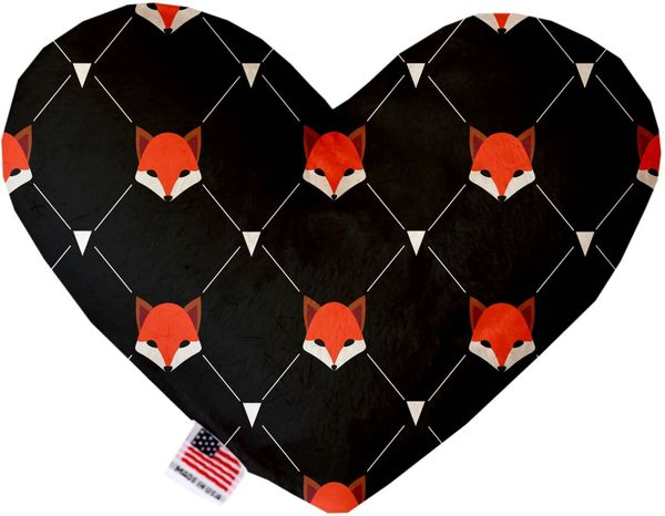 PET TOYS: Soft Velvety Fabric, Canvas, or Stuffing Free Heart Shape Pet Toy FOX PLAID in Two Sizes