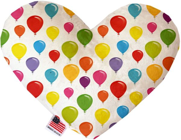 PET TOYS: Soft Velvety Fabric, Canvas, or StuffingFree Heart Shape Pet Toy HOT AIR BALLOONS in Two Sizes