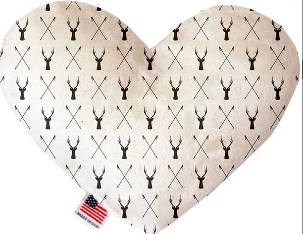 PET TOYS: Soft Velvety Fabric, Canvas, or Stuffing Free Heart Shape Pet Toy DEER DREAMER in Two Sizes