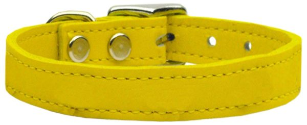 Leather Dog Collars: Leather Dog Collar in 9 Sizes & 11 Colors USA - PLAIN