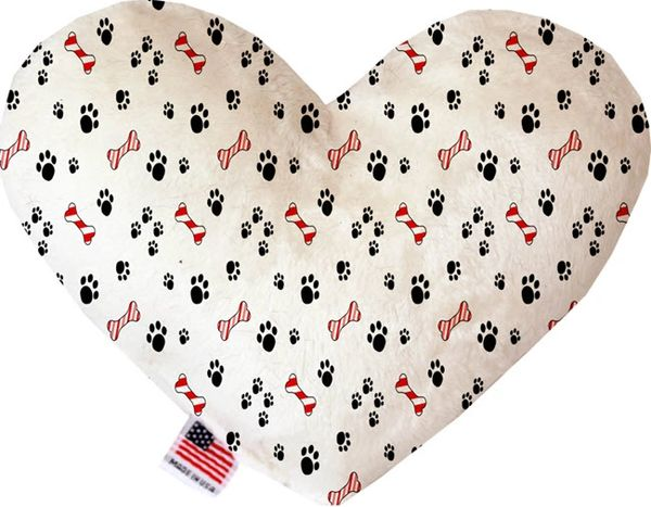 PET TOYS: Soft Velvety Fabric, Canvas, or Stuffing Free Heart Shape Pet Toy SWEET PAWS in Two Sizes