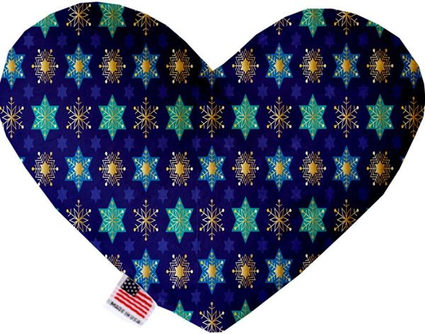 PET TOYS: Soft Velvety Fabric, Canvas, or Stuffing Free Heart Shape Pet Toy - STAR OF DAVID & SNOWFLAKES in 2 Sizes