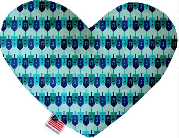 PET TOYS: Soft Velvety Fabric, Canvas, or Stuffing Free Heart Shape Pet Toy - DREIDEL, DREIDEL, DREIDEL in 2 Sizes