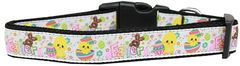 Dog Collars: Nylon Ribbon Dog Collar HAPPY EASTER by Mirage Pet Products - Matching Leash Sold Separately