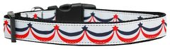 Patriotic Nylon Dog Collars: Ribbon Dog Collar AMERICAN SWAG USA by Mirage Pet Products - Matching Leash Sold Separately