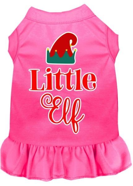 DOG DRESSES: Screen Print Dress ELF in 2 Different Designs Poly/Cotton in Various Colors & Sizes