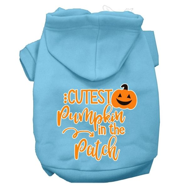Dog Hoodies: CUTEST PUMPKIN IN THE PATCH Screen Print Dog Hoodie in Various Colors & Sizes by Mirage
