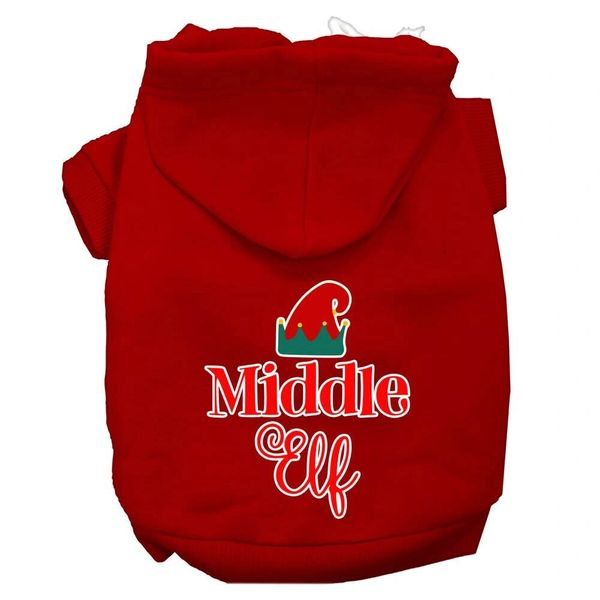Dog Hoodies: MIDDLE ELF Screen Print Dog Hoodie in Various Colors & Sizes by Mirage