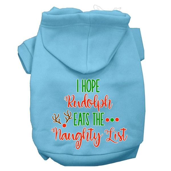 Dog Hoodies: HOPE RUDOLPH EATS THE NAUGHTY LIST Screen Print Dog Hoodie in Various Colors & Sizes by Mirage