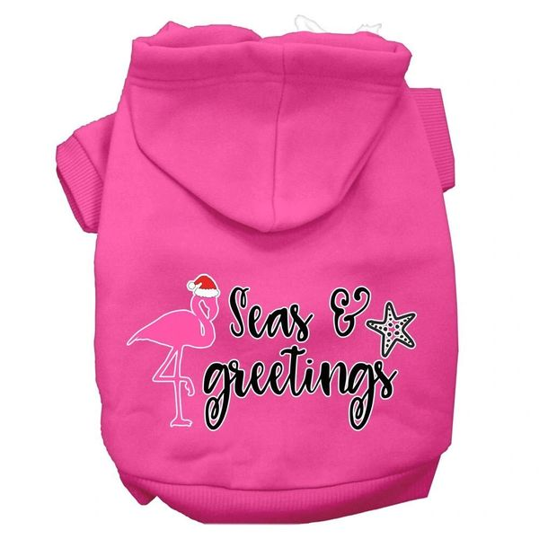 Dog Hoodies: SEAS AND GREETINGS Screen Print Dog Hoodie in Various Colors & Sizes by MiragePetProducts