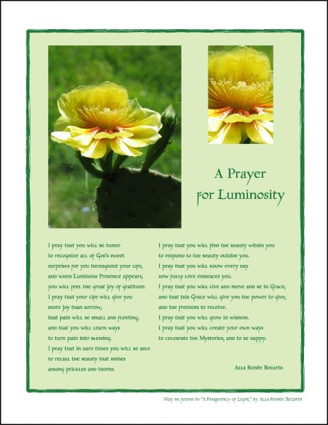 A Prayer for Luminosity - Full-page Art Piece