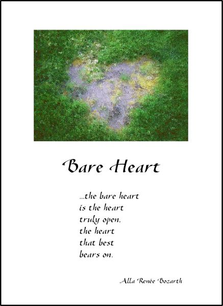 Bare Heart - Full-page Art Piece