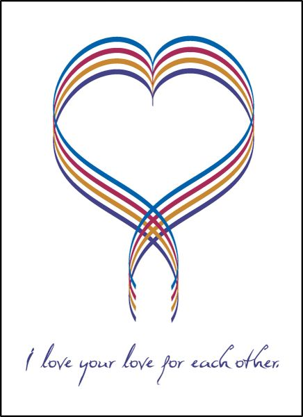 I Love Your Love for Each Other — Ribbon Heart