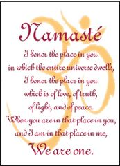 Namasté Soul Card