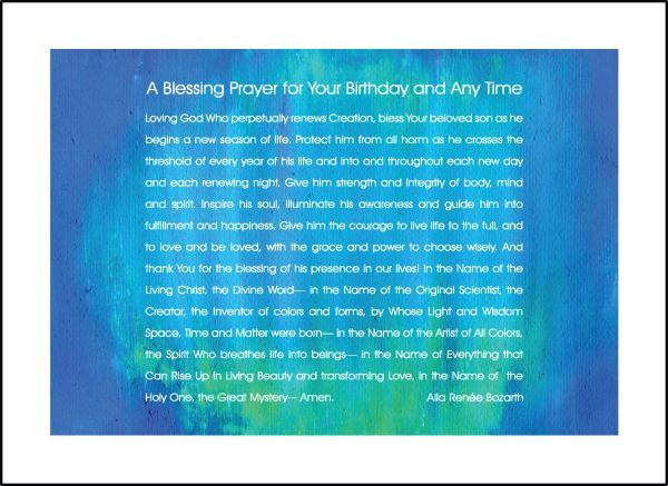 A Blessing Prayer for Your Birthday and Any Time - For Him - Soul Card