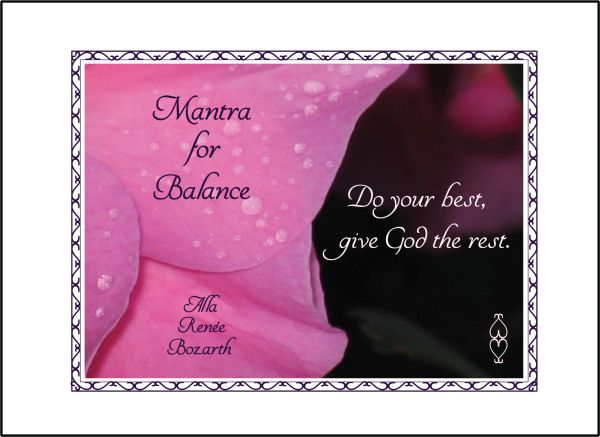 Mantra for Balance Soul Card