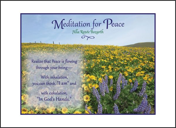 Meditation for Peace - Soul Card