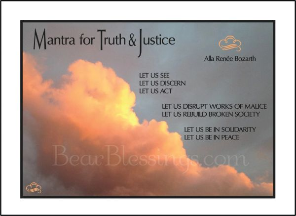 Mantra for Truth & Justice Soul Card