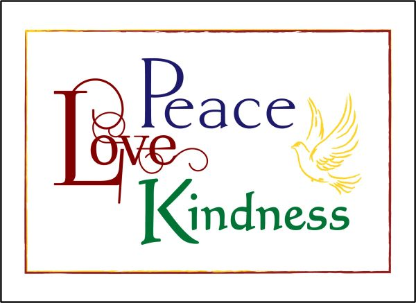 Peace Love Kindness Soul Card