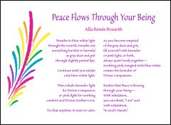 Peace Flows Through Your Being - Soul Card