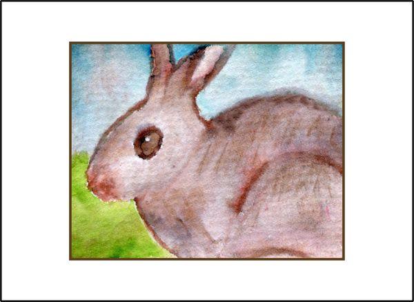 Wild Bunny - Watercolor