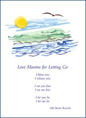 Love Mantra for Letting Go - River Soul Card