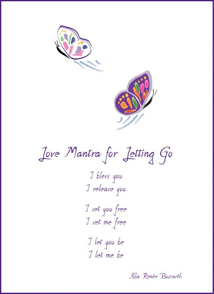 Love Mantra for Letting Go - Butterflies Soul Card