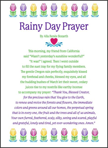 Rainy Day Prayer - Soul Card