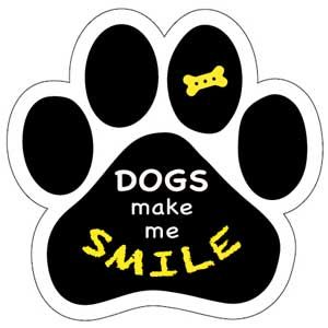 Dogs Make Me Smile Paw Magnet