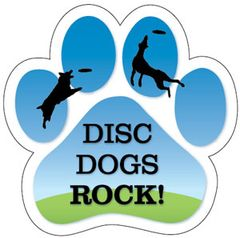 Disc Dogs Rock Paw Magnet