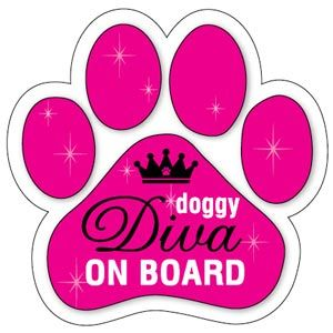 Doggy Diva on Board Paw Magnet