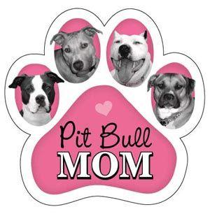Pitbull Mom Paw Magnet