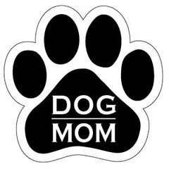 Dog Mom Paw Magnet