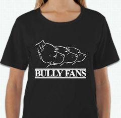 SALE Bully Fans Logo WOMEN'S T-shirt - BLACK