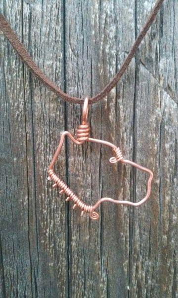 Pitbull Necklace - Copper