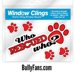 Who Rescued Who Window Cling