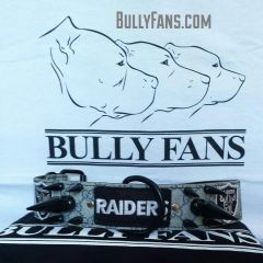 """2"""" GG Dog Collar with Extreme Spikes & Oakland Raiders emblems"""