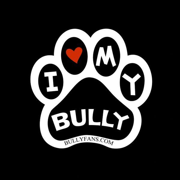 I Love My Bully vinyl sticker - 4 pack