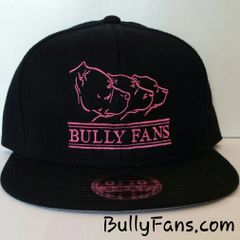 Bully Fans Logo Black Snapback with PINK
