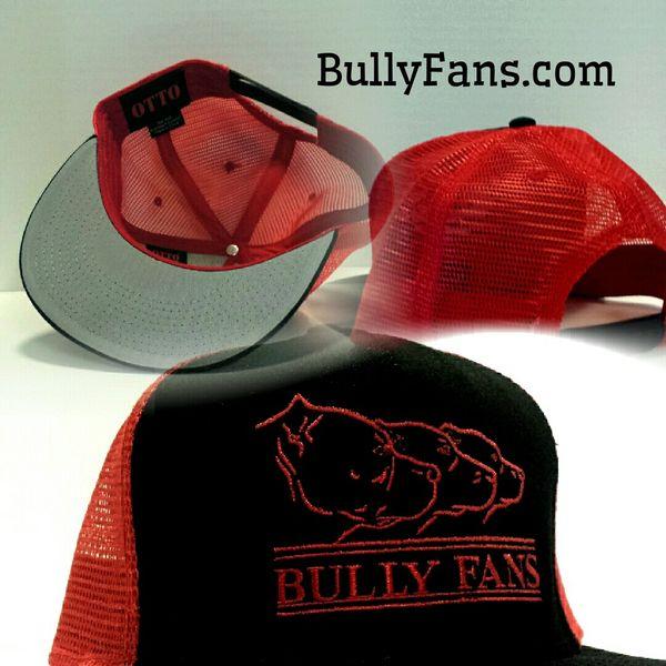 Bully Fans Logo Mesh Snapback - Red