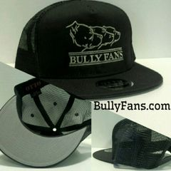 Bully Fans Logo Mesh Snapback Grey with TAN embroidery