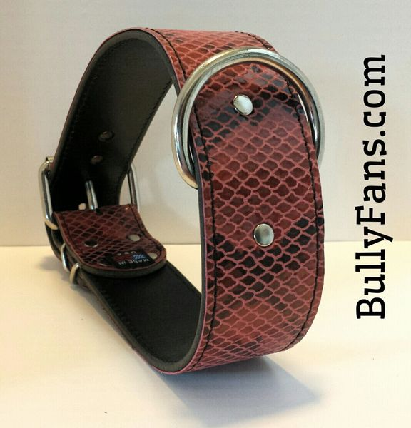 "2"" Burnt Orange Lizard Dog Collar"
