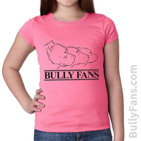 Bully Fans Logo YOUTH T-shirt - Pink