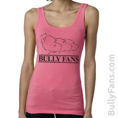 Bully Fans Logo LADIES Tank Top - PINK with Black Logo
