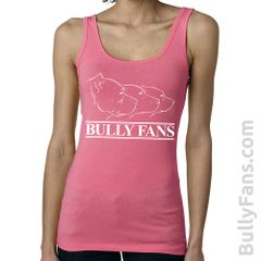 Bully Fans Logo LADIES Tank Top - PINK